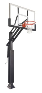 ZIP CRANK ADJUSTABLE BASKETBALL SYSTEM
