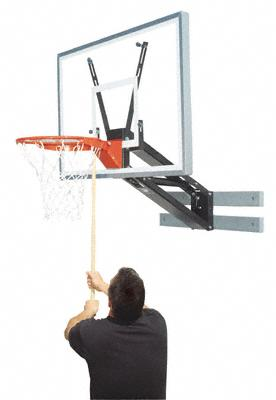 Bison basketball hoops from basketball hoops unlimited for Basketball hoop inside garage