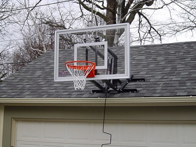 First team basketball hoops from basketball hoops for Basketball garage