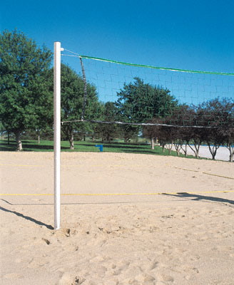 Sand Bar Volleyball System